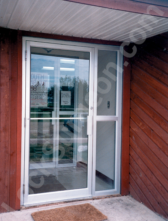 apartment entry doors and vestibules, storefront doors