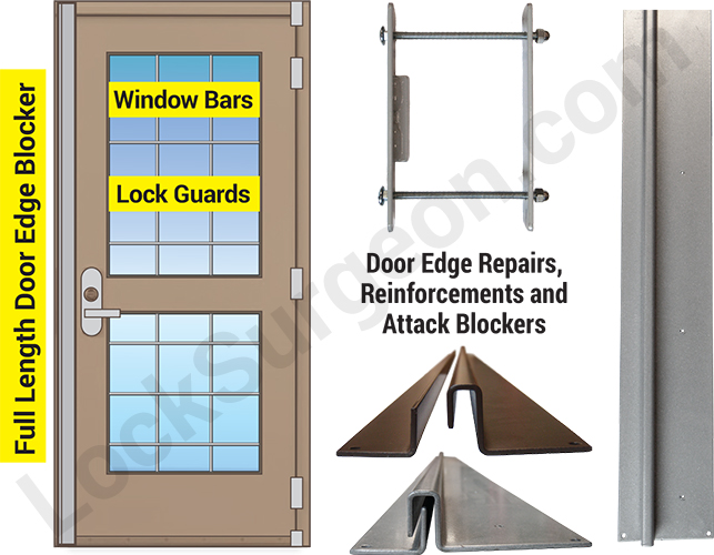 door edge and frame repair and security