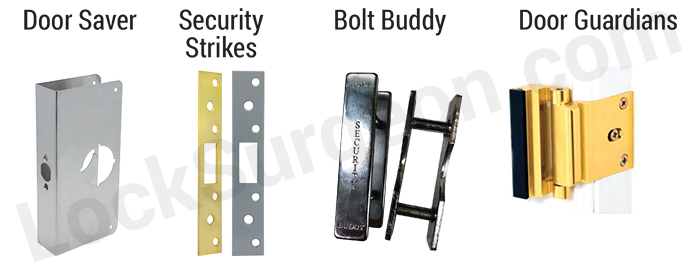 door saver home door edge repair product, security strike, door frame repair and security, bolt buddy man door and frame security and repair